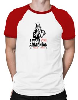 I Want You To Speak Armenian Or Get Out! Raglan T-Shirt