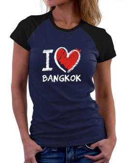 I love Bangkok chalk style Women Raglan T-Shirt