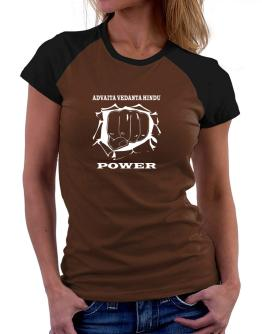 Advaita Vedanta Hindu Power Women Raglan T-Shirt