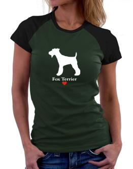 Fox Terrier love Women Raglan T-Shirt