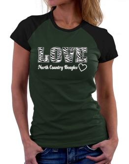 Love North Country Beagles Women Raglan T-Shirt