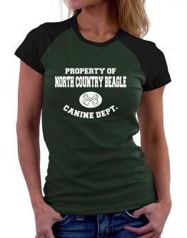 Property of North Country Beagle canine dept Women Raglan T-Shirt