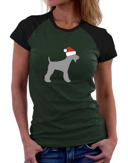 Fox Terrier christmas Women Raglan T-Shirt