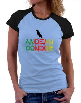 Dripping Andean Condor Women Raglan T-Shirt