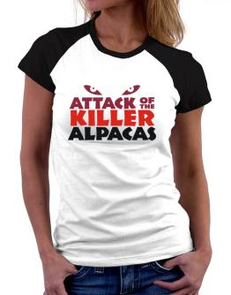 Attack Of The Killer Alpacas Women Raglan T-Shirt