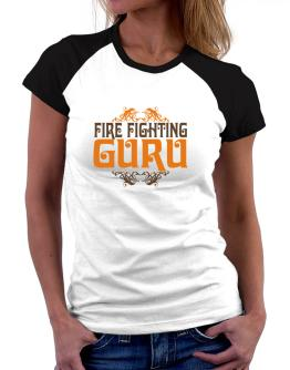 Fire Fighting Guru Women Raglan T-Shirt