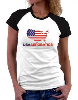 Usa Aerobatics / Map Women Raglan T-Shirt