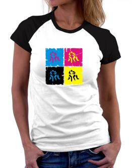 Wrestling - Pop Art Women Raglan T-Shirt