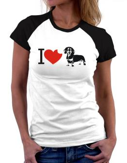 I love Dachshunds Women Raglan T-Shirt