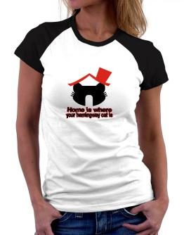 Home Is Where Hemingway Cat Is Women Raglan T-Shirt