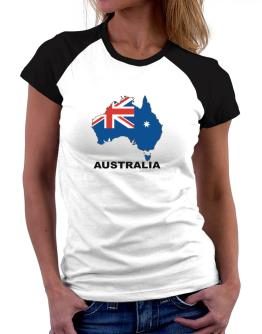 Australia - Country Map Color Women Raglan T-Shirt