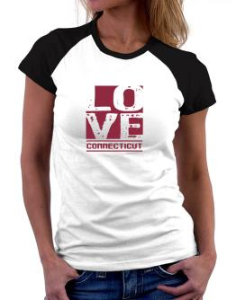 Love Connecticut Women Raglan T-Shirt