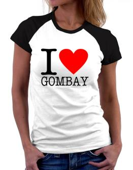 I Love Gombay Women Raglan T-Shirt