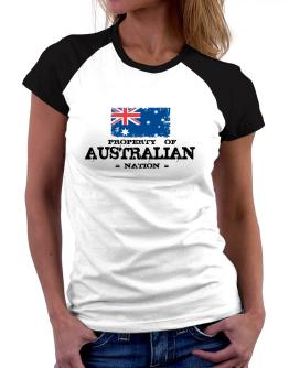 Property of Australian Nation Women Raglan T-Shirt