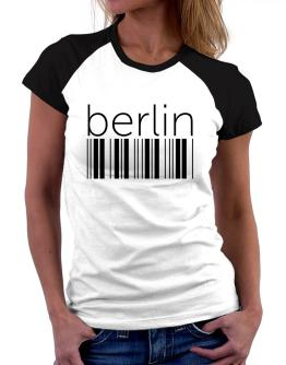 Berlin barcode Women Raglan T-Shirt