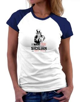 I Want You To Speak Sicilian Or Get Out! Women Raglan T-Shirt