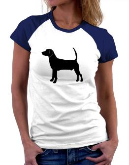 North Country Beagle silhouette Women Raglan T-Shirt