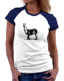 Alpaca sketch Women Raglan T-Shirt