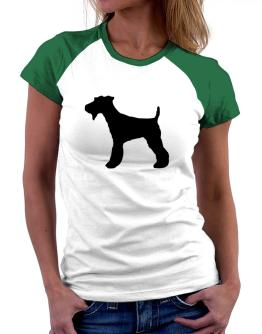 Fox Terrier silhouette Women Raglan T-Shirt