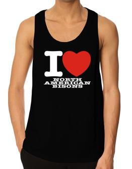 I Love North American Bisons Tank Top