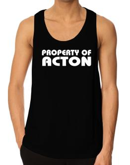 """ Property of Acton "" Tank Top"