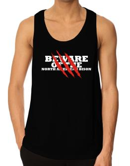 Beware Of The North American Bison Tank Top