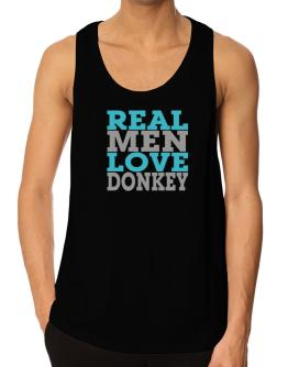 Real Men Love Donkey Tank Top