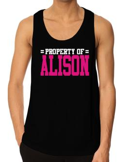 Property Of Alison Tank Top