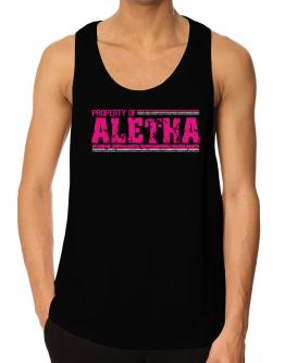 Property Of Aletha - Vintage Tank Top