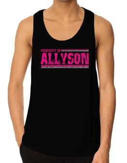 Property Of Allyson - Vintage Tank Top
