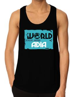 The World Revolves Around Adia Tank Top