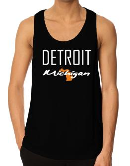 """ Detroit - State Map "" Tank Top"