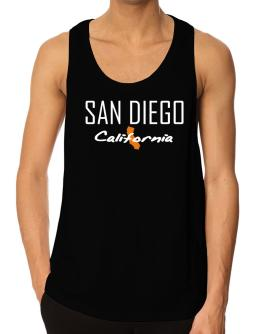 """"""" San Diego - State Map """" Tank Top"""