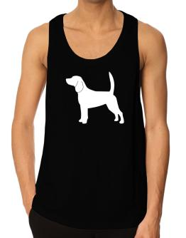 Beagle Silhouette Embroidery Tank Top