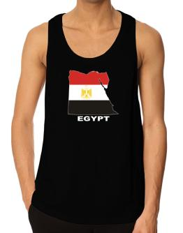 Egypt - Country Map Color Tank Top