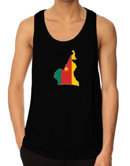 Cameroon - Country Map Color Simple Tank Top