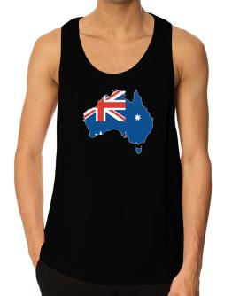Australia - Country Map Color Simple Tank Top