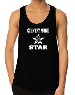Country Music Star - Microphone Tank Top