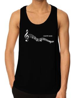 Country Music - Notes Tank Top
