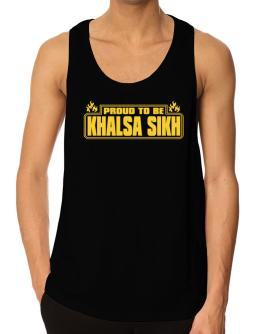 Proud To Be Khalsa Sikh Tank Top