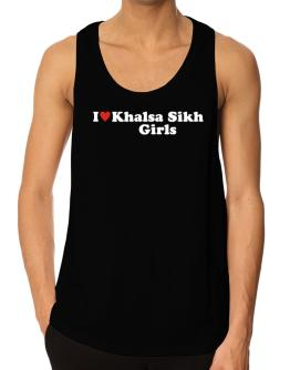 I Love Khalsa Sikh Girls Tank Top