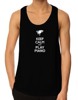 Playeras Bividi de Keep calm and play Piano - silhouette
