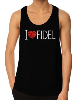 I love Fidel cool style Tank Top