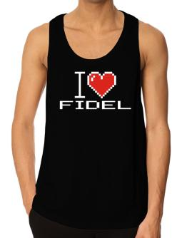 I love Fidel pixelated Tank Top