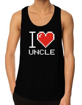 I love Auncle pixelated Tank Top