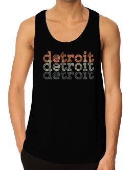 Detroit repeat retro Tank Top