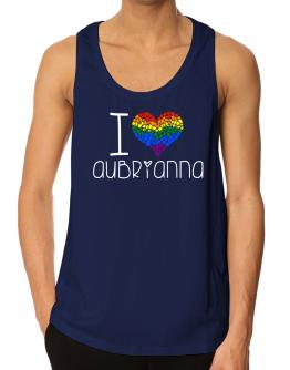 I love Aubrianna rainbow heart 2 Tank Top