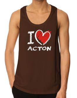 I love Acton chalk style Tank Top