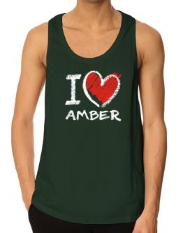 I love Amber chalk style Tank Top