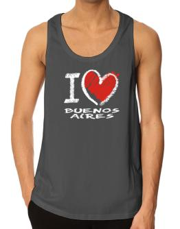 I love Buenos Aires chalk style Tank Top